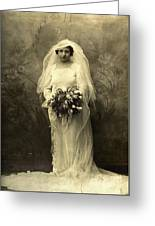 A Beautiful Vintage Photo Of Coloured Colored Lady In Her Wedding Dress Greeting Card