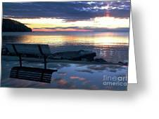 A Bench To Reflect Greeting Card