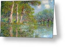 A Bend In The Eure Greeting Card