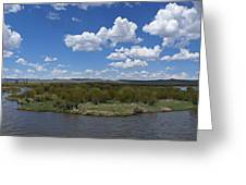 A Bend In The River Greeting Card