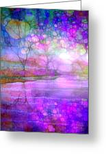 A Bewitching Purple Morning Greeting Card