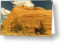 A Big Mountainous Rock On The Gemini Trail Moab Utah  Greeting Card