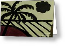 A Black And White Beach Scene Greeting Card by Marie Bulger