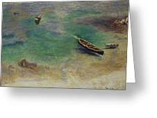 A Boat In The Waters Off Capri Greeting Card