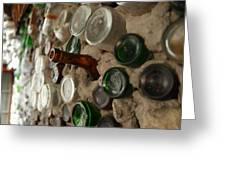 A Bottle In The Wall Greeting Card