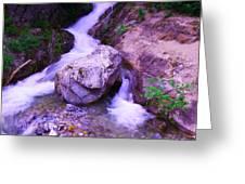 A Boulder Splitting The Rocks Greeting Card