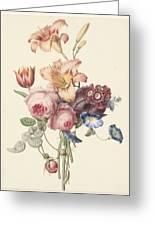 A Bouquet, Henriette Geertruida Knip, Ca. 1820 Greeting Card