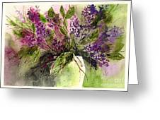 A Bouquet Of May-lilacs Greeting Card