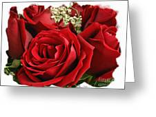 A Bouquet Of Red Roses Greeting Card