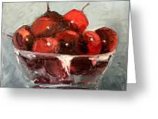 A Bowl Full Of Cherries Greeting Card