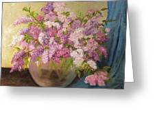A Bowl Full Of Lilacs Greeting Card