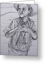 A Boy With A Hat Greeting Card