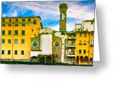 A Breeze Over Florence Greeting Card