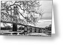 A Bridge In Winter Greeting Card
