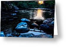 A Browns River Sunset Greeting Card