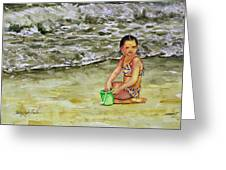A Bucket Full Of Ocean Greeting Card