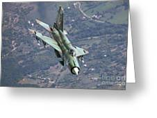 A Bulgarian Air Force Mig-21bis Armed Greeting Card