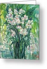 A Bunch Of Orchid Paintings Greeting Card