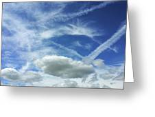 A Busy Sky Greeting Card