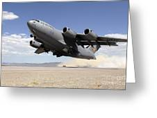 A C-17 Globemaster Departs Greeting Card