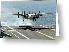 A C-2a Greyhound Prepares To Land Greeting Card