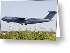 A C-5a Galaxy Of The U.s. Air Force Greeting Card
