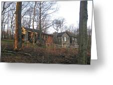 A Cabin On The Hill Greeting Card