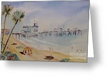 A California Pier Greeting Card