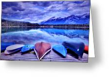 A Calm Afternoon At Lake Edith Greeting Card