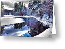 A Calm Winter Scene Greeting Card
