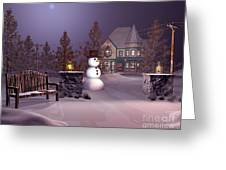 A Calm Winters Night Greeting Card