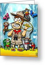 A Camping We Will Go Greeting Card