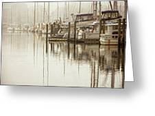 A Canal View Greeting Card