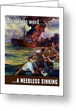 A Careless Word A Needless Sinking Greeting Card
