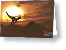 A Carnivorous Allosaurus Calling Greeting Card