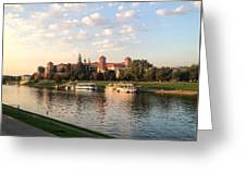 A Castle On The River Greeting Card