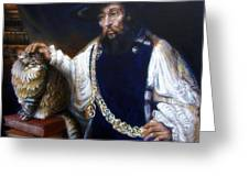 A Cat For Rembrandt_ Aristotle Caresses Calliope Greeting Card