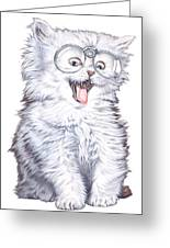 A Cat With Glasses Greeting Card