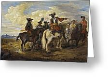 A Cavalry Skirmish Greeting Card