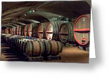 A Cellar Of Burgundy Greeting Card