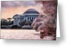 A Cherry Blossom Dawn Greeting Card