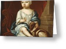 A Child Of The Pierpont Family Greeting Card