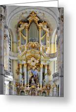 A Church Filled With Music - Church Of Our Lady Dresden Greeting Card