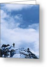 A Climber On The Airy Traverse Greeting Card