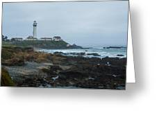 A Cloudy Day At Pigeon Point Greeting Card
