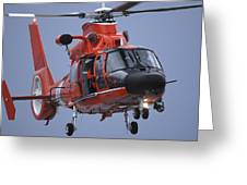A Coast Guard Mh-65 Dolphin Helicopter Greeting Card by Stocktrek Images