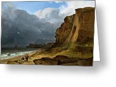 A Coastal Scene Greeting Card