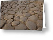 A Cobblestone Road In Rome Greeting Card
