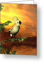 A Cockatoo In A Tree  Greeting Card