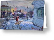 A Cold Afternoon In Tonawanda Greeting Card